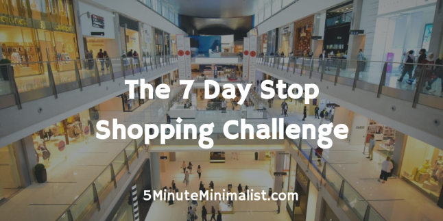 7 Day Stop Shopping Challenge